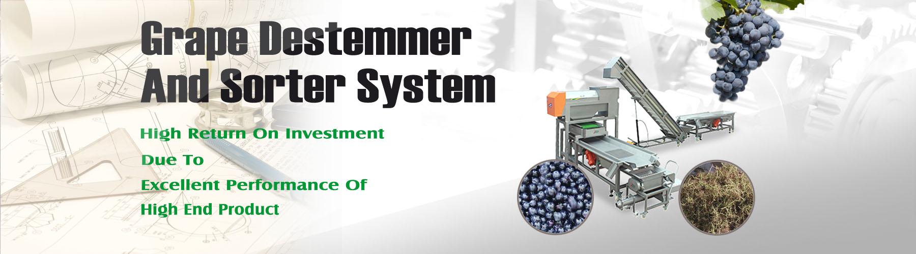 Grape Destemmer And Sorter System--001