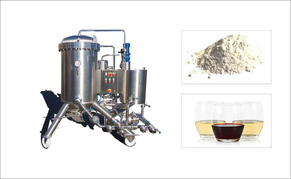 Horizontal Disc Diatomite Filter For Fruit Juice Wine Filtration ...