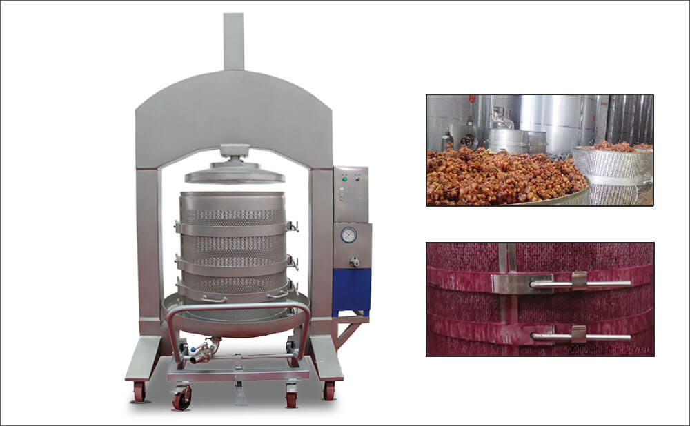 Stainless Steel Industrial Hydraulic Wine Press For Grape Wine ...