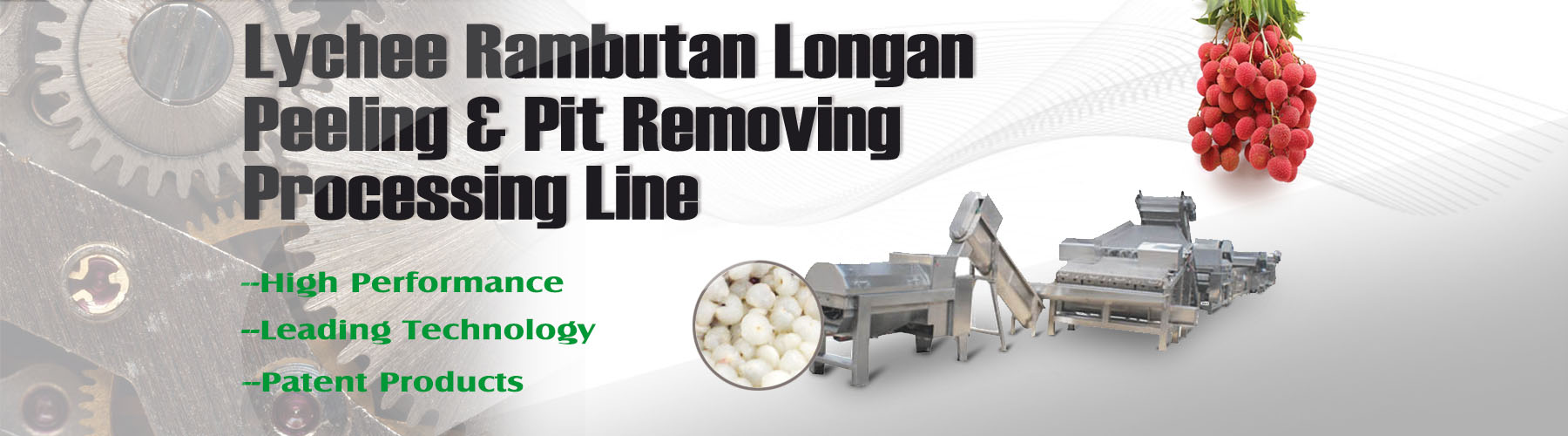 Lychee peeling and pit removing processing line--001